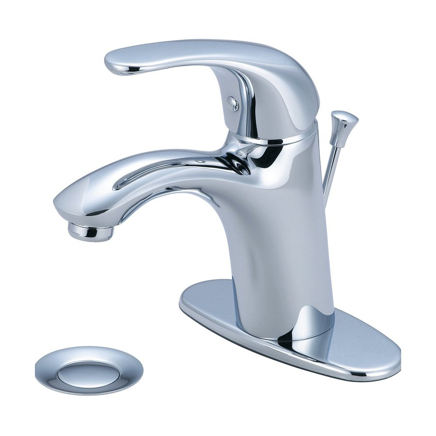 Pioneer Industries Vellano Polished Chrome 1-Handle 4-in Centerset WaterSense Bathroom Faucet (Drain Included)