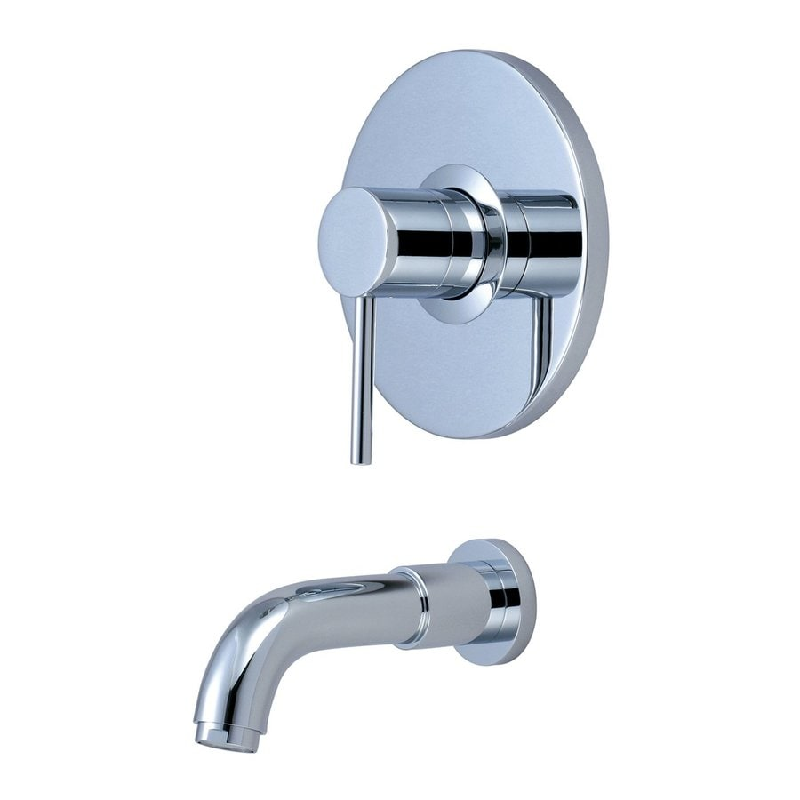 Shop Pioneer Industries Motegi Polished Chrome 1 Handle Adjustable Wall Mount Bathtub Faucet At