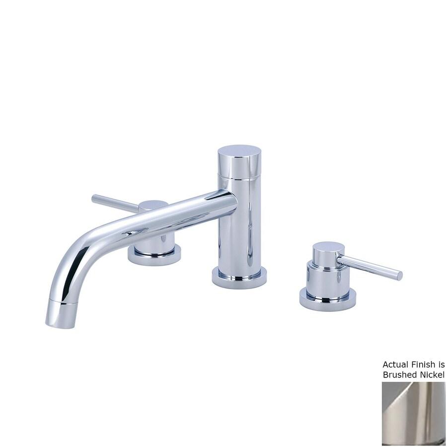 Pioneer Industries Motegi Brushed Nickel 2-Handle Adjustable Deck Mount Bathtub Faucet