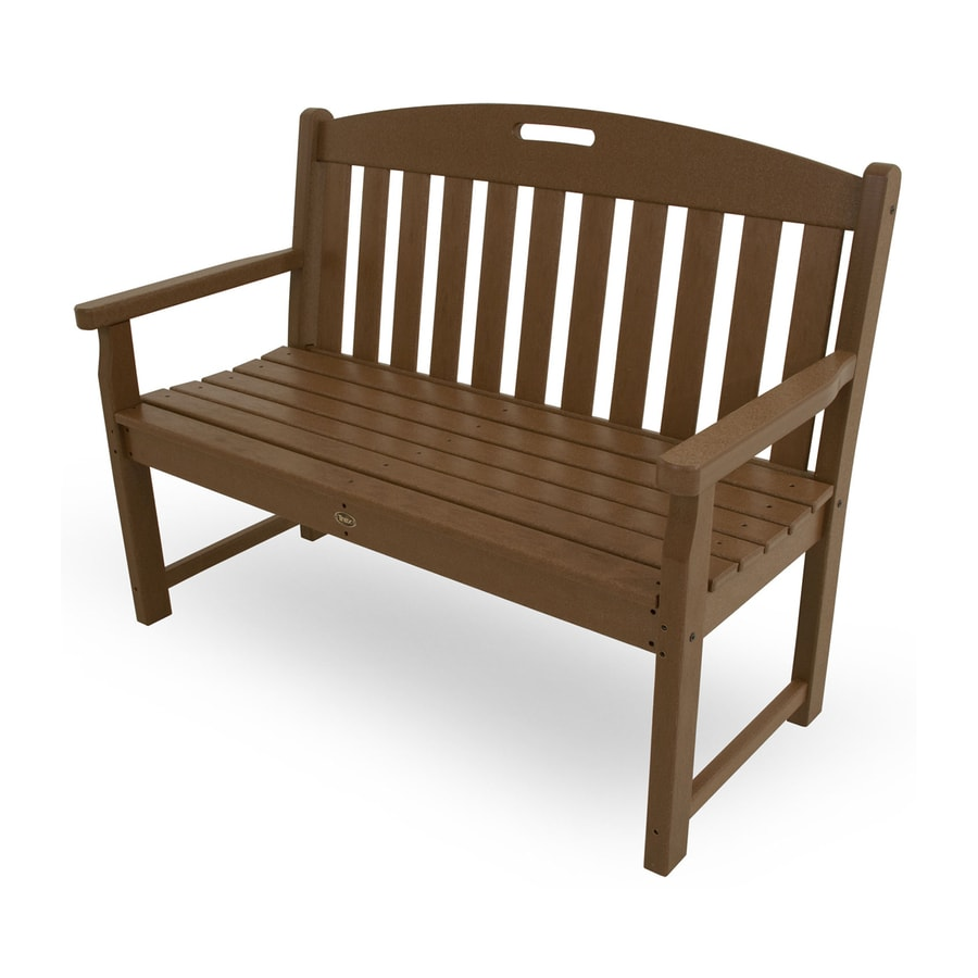 Trex Outdoor Furniture Yacht Club 24.25-in W x 47.5-in L Tree House Plastic Patio Bench