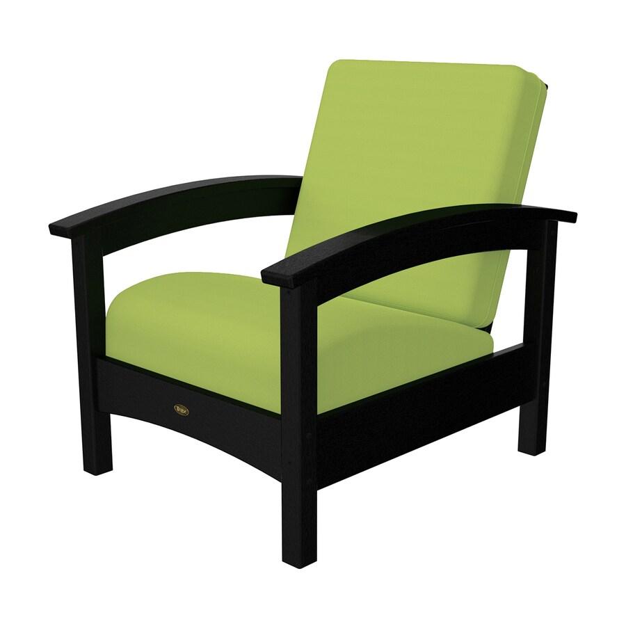 Shop Trex Outdoor Furniture Rockport Charcoal Black Canvas Macaw Plastic Patio Conversation