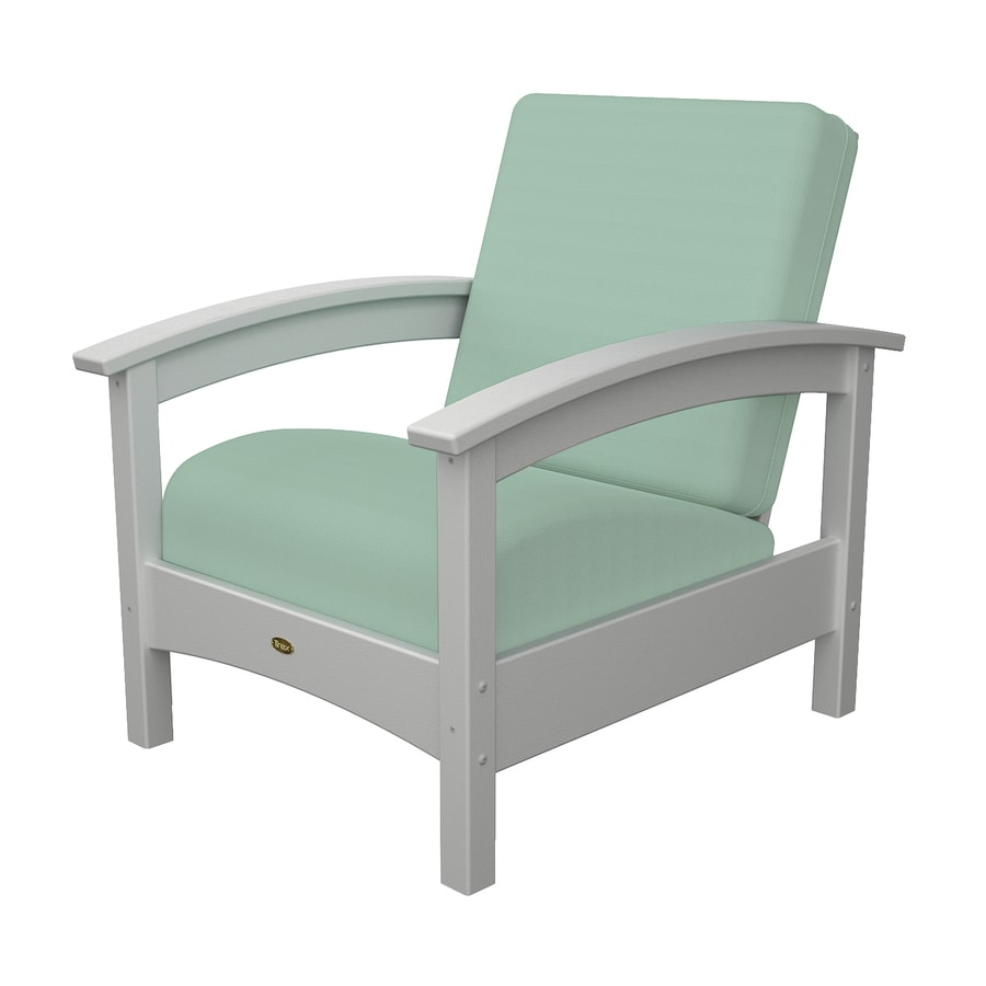 Trex Outdoor Furniture Rockport Classic White/Canvas Spa Plastic Patio Conversation Chair