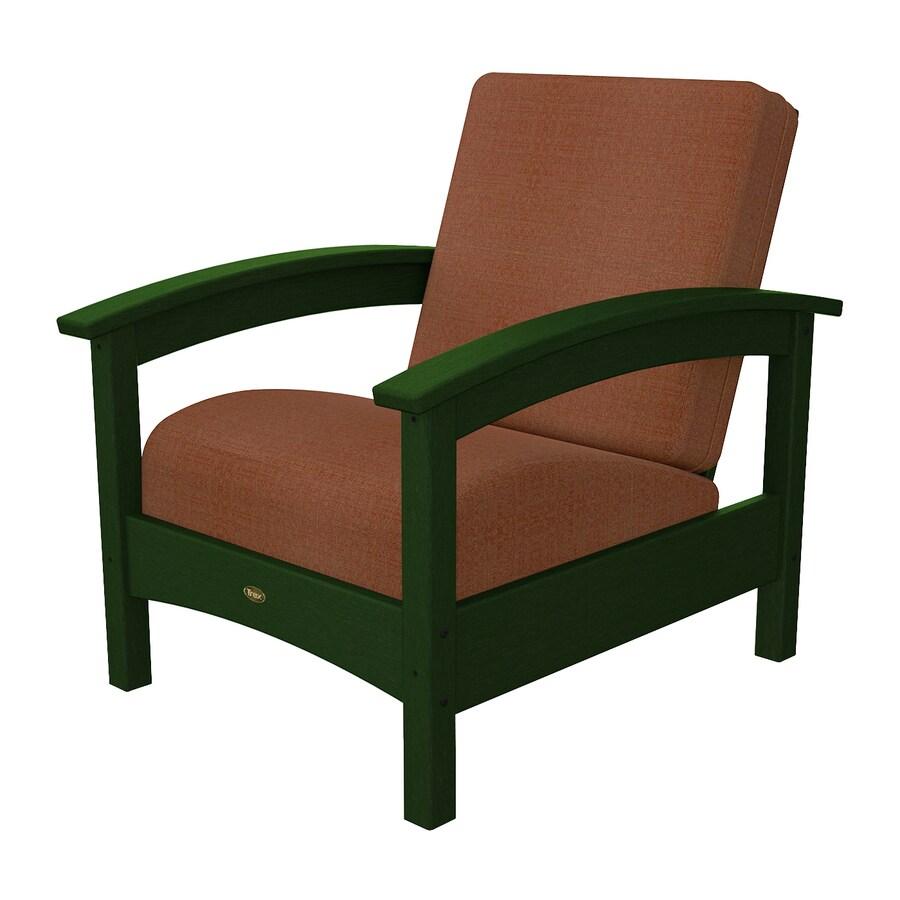 Trex Outdoor Furniture Rockport Rainforest Canopy/Linen Chili Plastic Patio Conversation Chair
