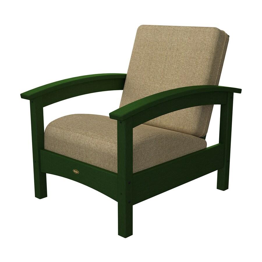 Trex Outdoor Furniture Rockport Rainforest Canopy/Linen Sesame Plastic Patio Conversation Chair