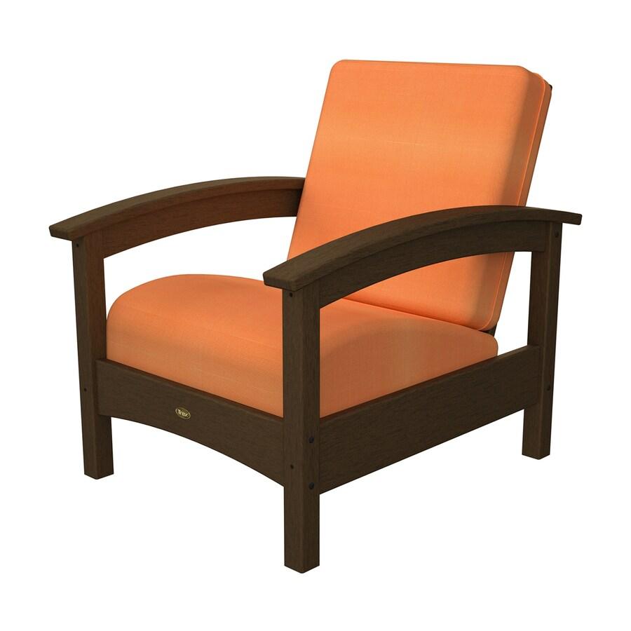 Trex Outdoor Furniture Rockport Tree House/Canvas Tangerine Plastic Patio Conversation Chair