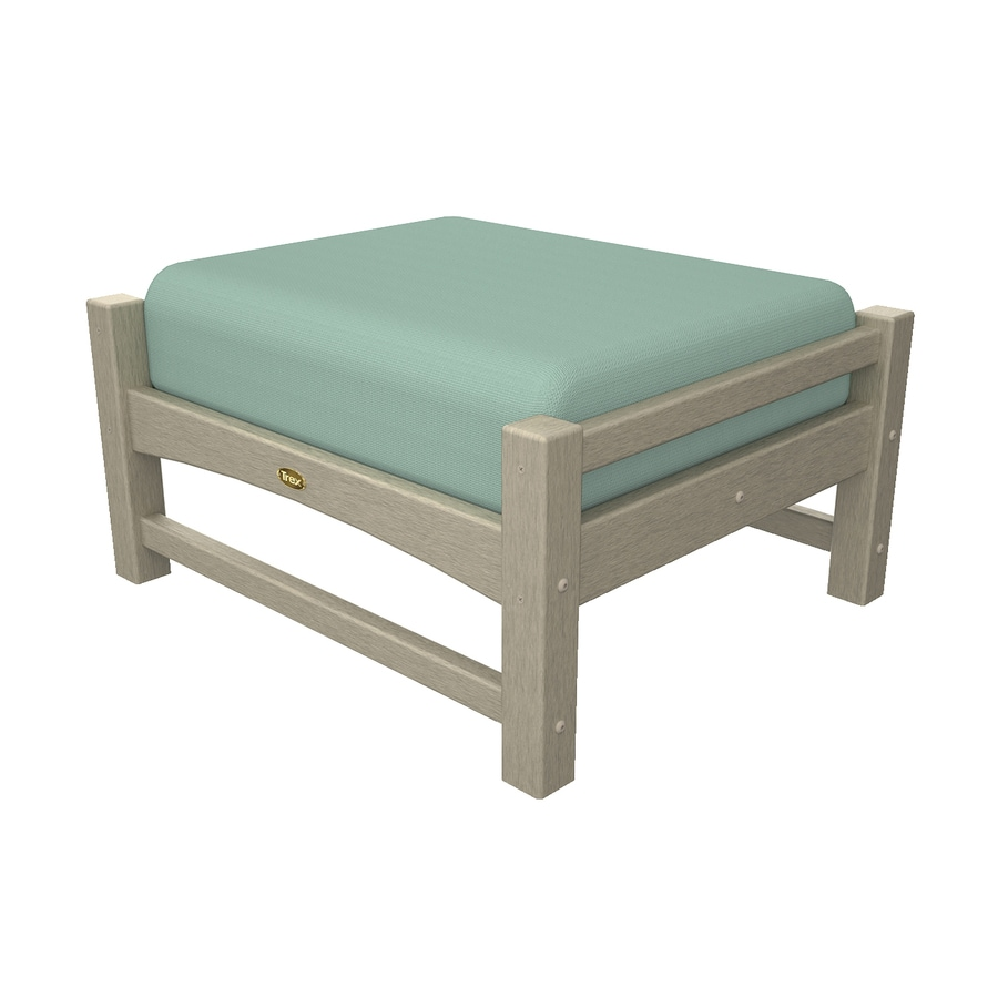Trex Outdoor Furniture Rockport Sand Castle/Canvas Spa Plastic Ottoman