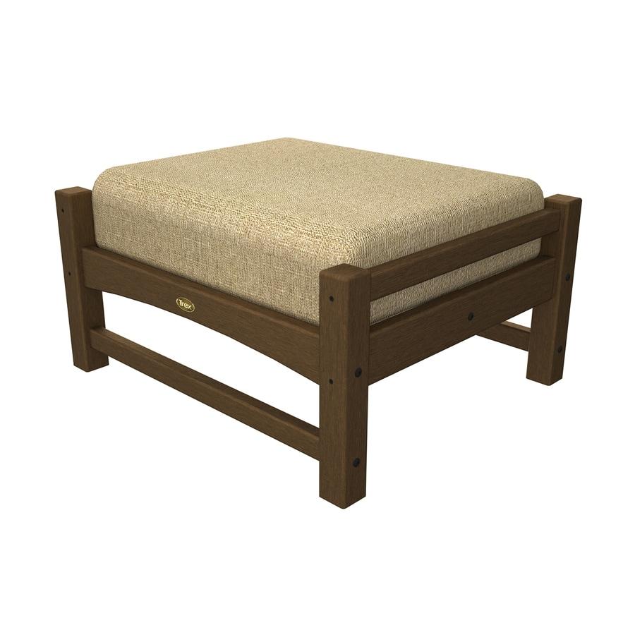 Trex Outdoor Furniture Rockport Tree House/Linen Sesame Plastic Ottoman