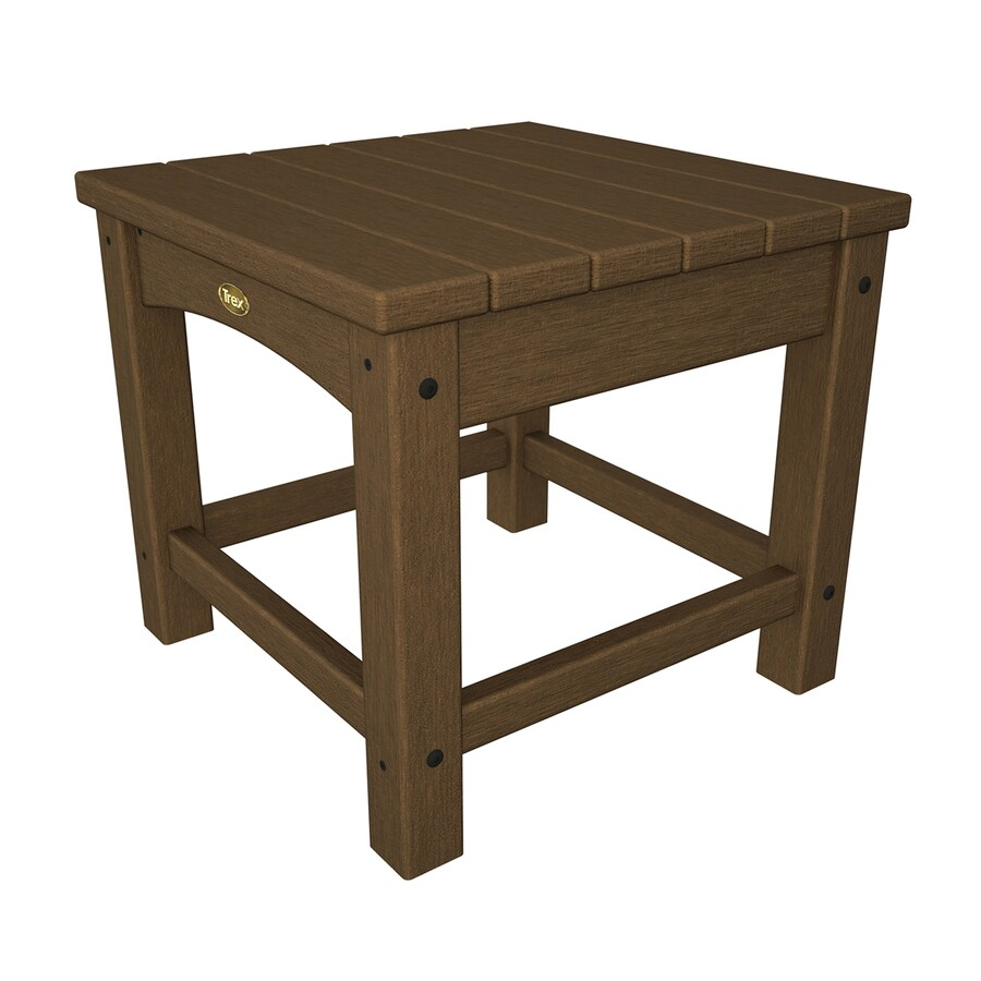 Trex Outdoor Furniture Rockport 17.75-in W x 17.75-in L Tree House Square Plastic End Table