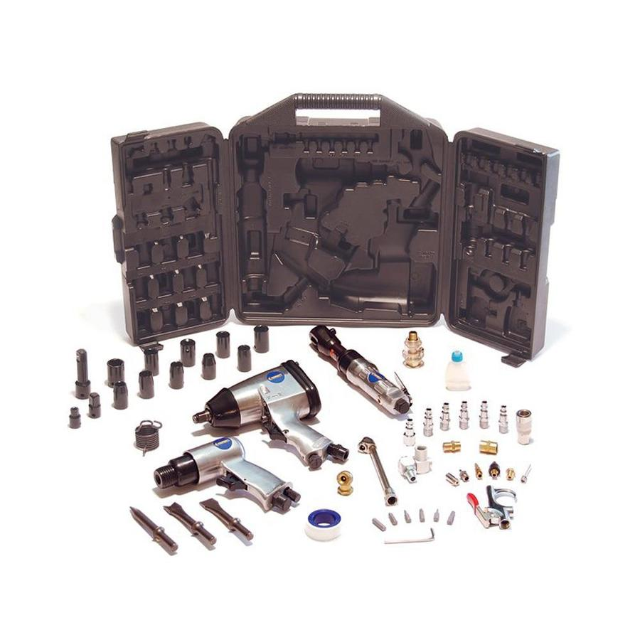 Primefit 50-Piece Air Tool Kit with Impact, Ratchet, Chisel, Blow Gun, and Accessories