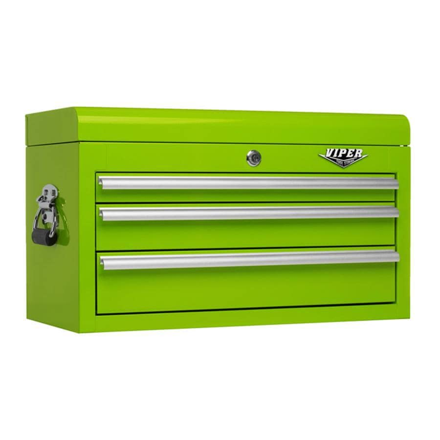 Viper Tool 16-in x 26-in 3-Drawer Ball-Bearing Steel Tool Chest (Green)