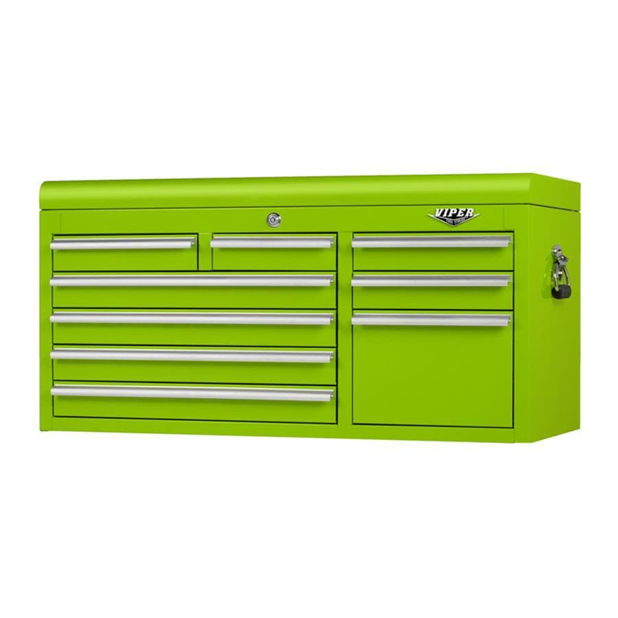 Viper Tool 22-in x 41-in 9-Drawer Ball-Bearing Steel Tool Chest (Green)