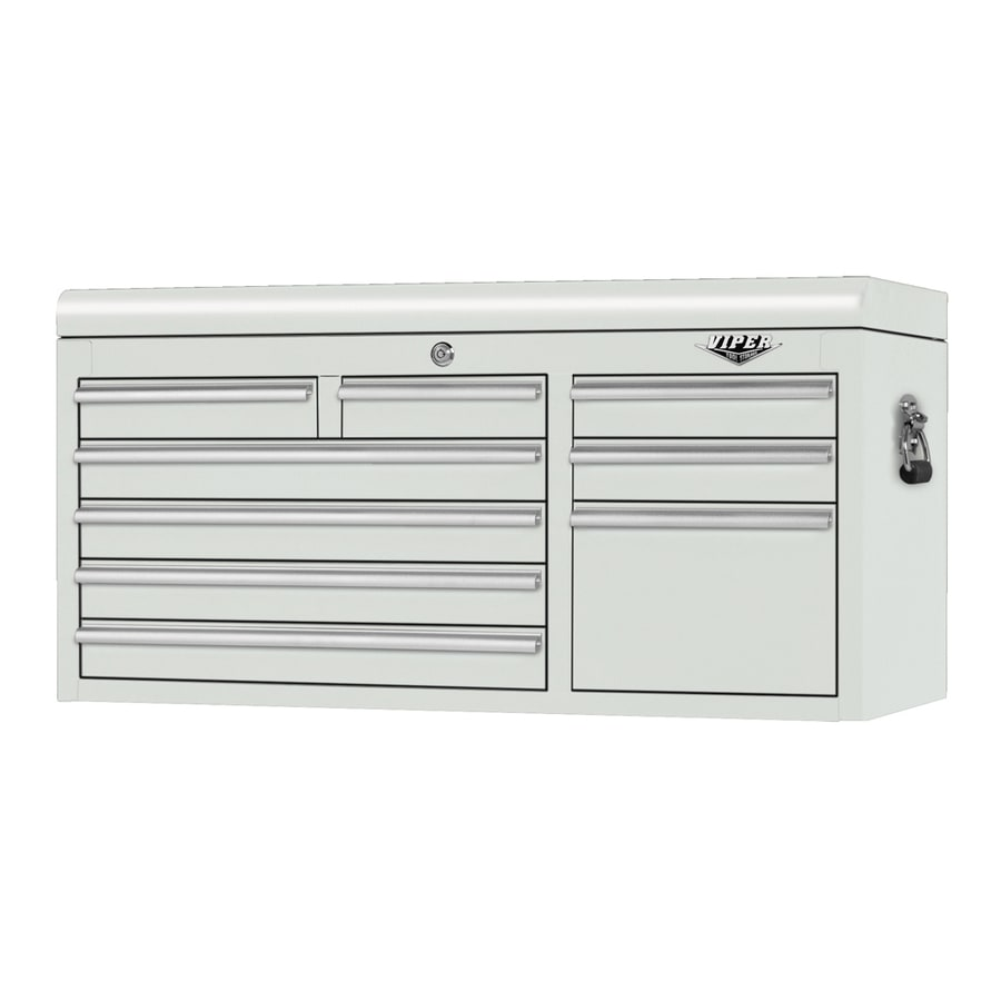 Viper Tool 20.4-in x 41-in 9-Drawer Ball-Bearing Steel Tool Chest (White)