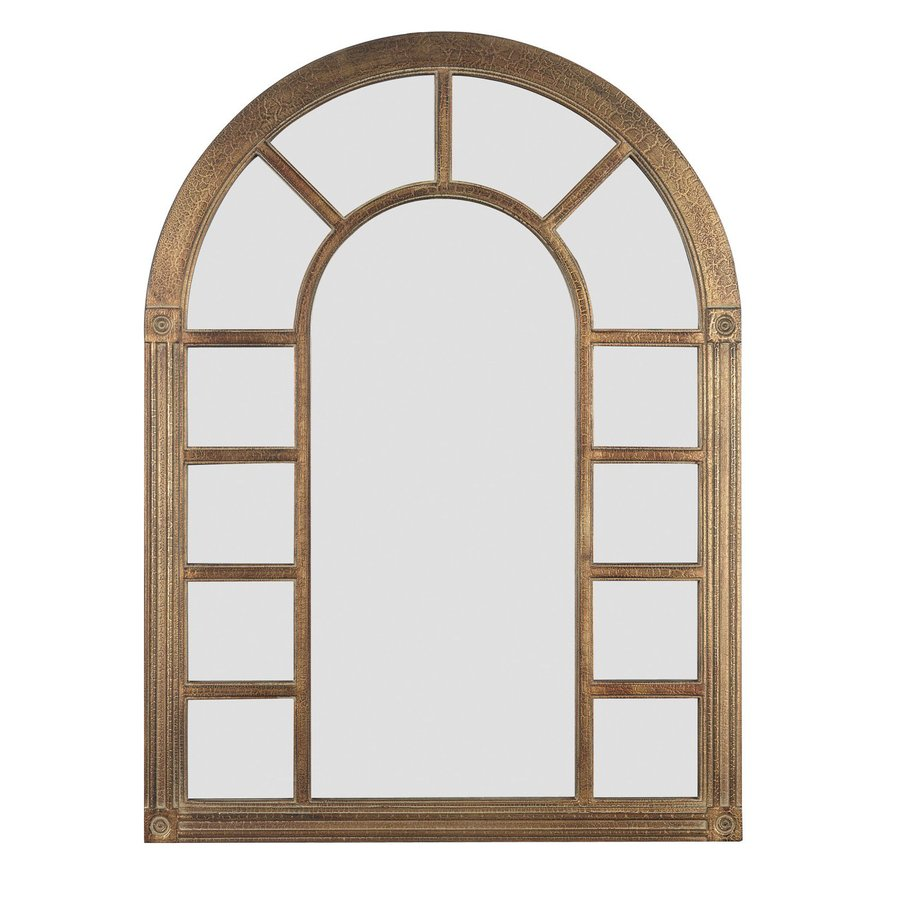 Kenroy Home Cathedral 28-in x 38-in Bronze Arch Framed Wall Mirror