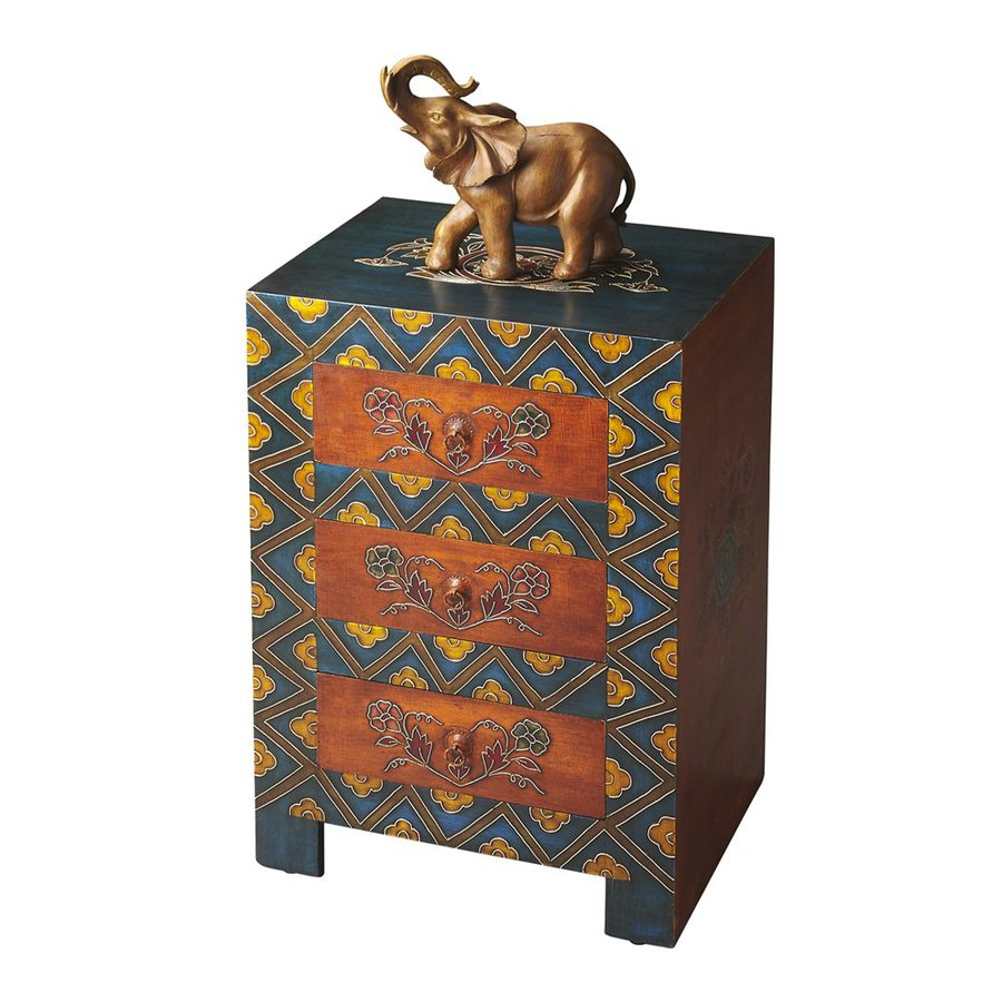 Butler Specialty Artifacts Painted Wood Mango Rectangular End Table