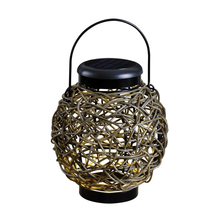 Kenroy Home 8-in x 9-in Black Solar Outdoor Decorative Lantern