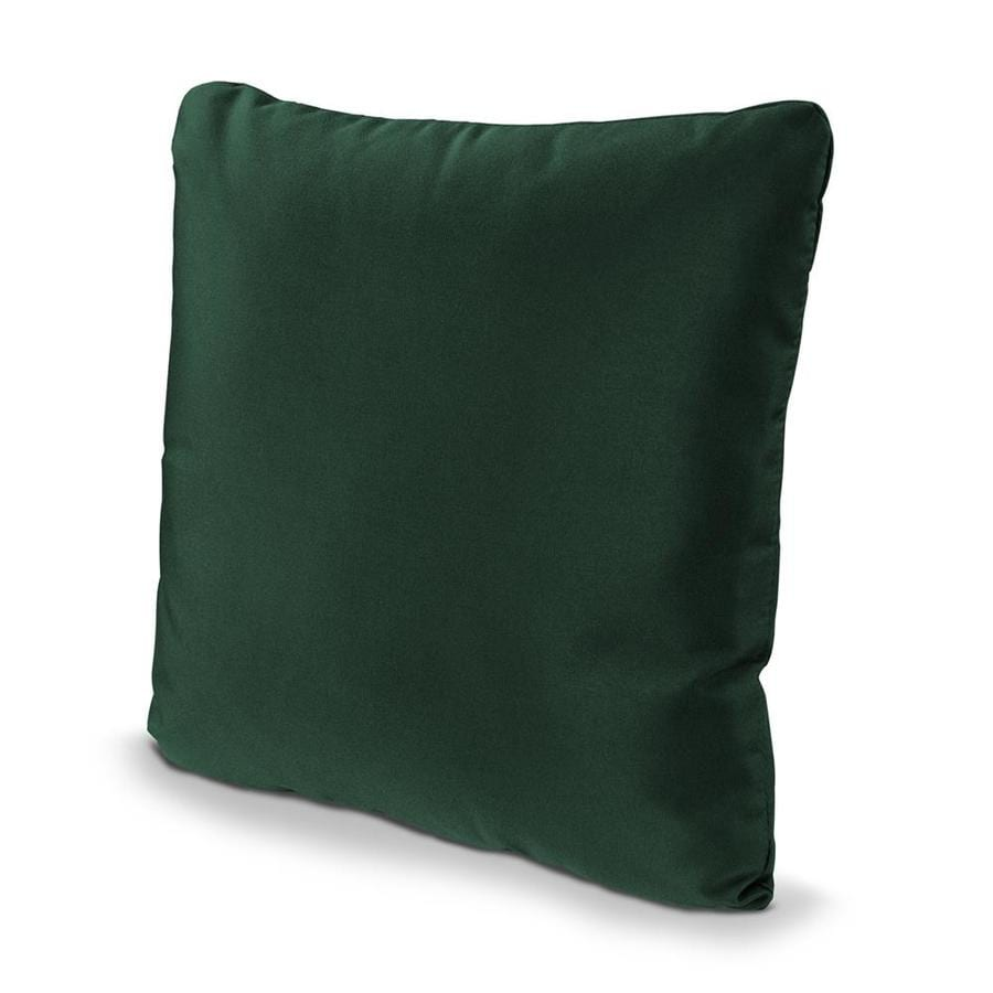 POLYWOOD Forest Green Solid Square Outdoor Decorative Pillow