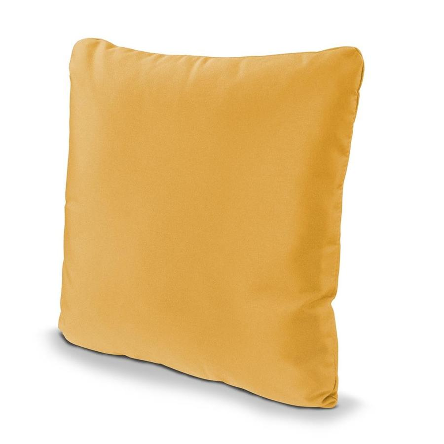 POLYWOOD Sunflower Yellow Solid Square Outdoor Decorative Pillow
