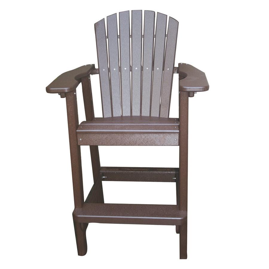 Shop Perfect Choice Furniture Mocha Plastic Patio Barstool Chair At