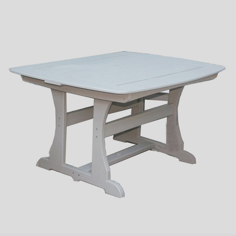 Perfect Choice Furniture 42-in W x 56-in L Rectangle Plastic Dining Table