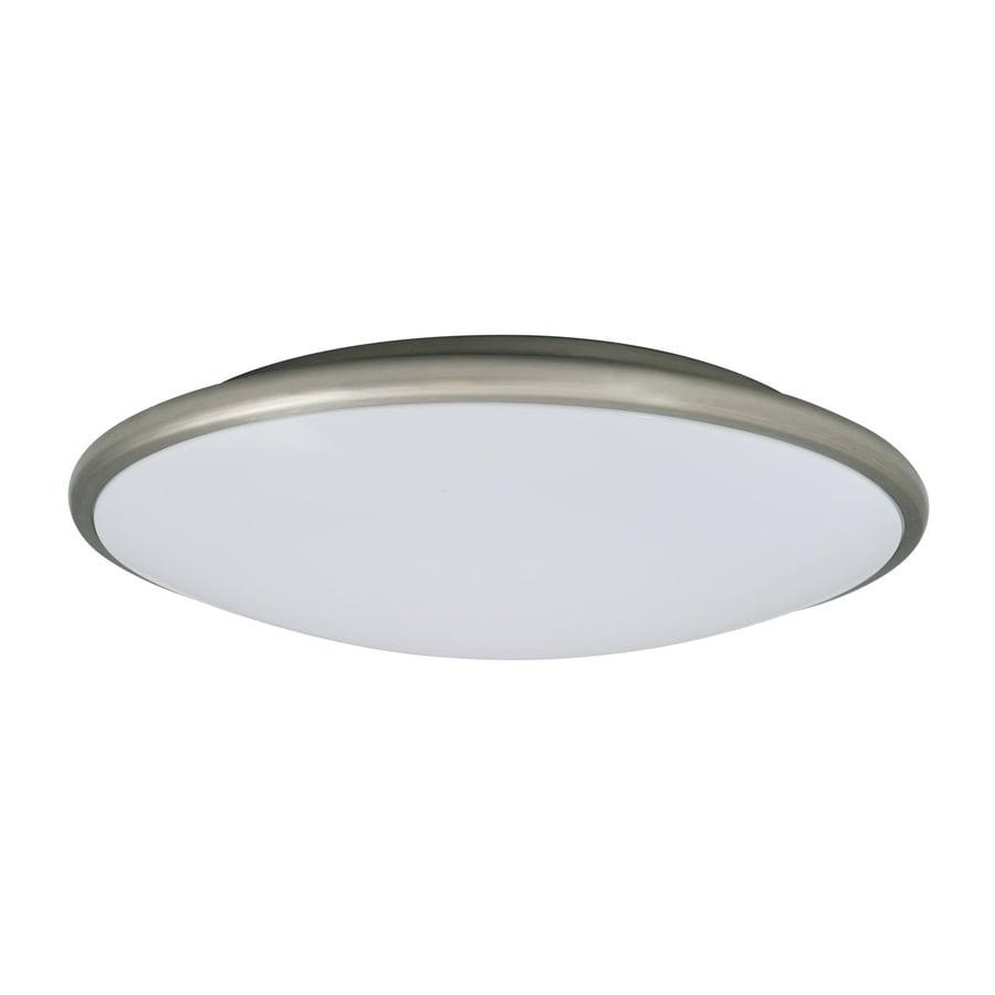 Amax Lighting 17-in W Nickel LED Ceiling Flush Mount Light