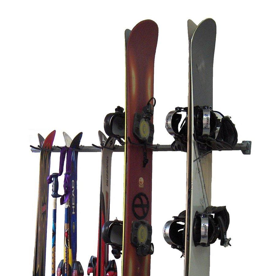 Monkey Bar 51-in L x 3-in H x 4-in D Silver Ski/Snowboard Rack