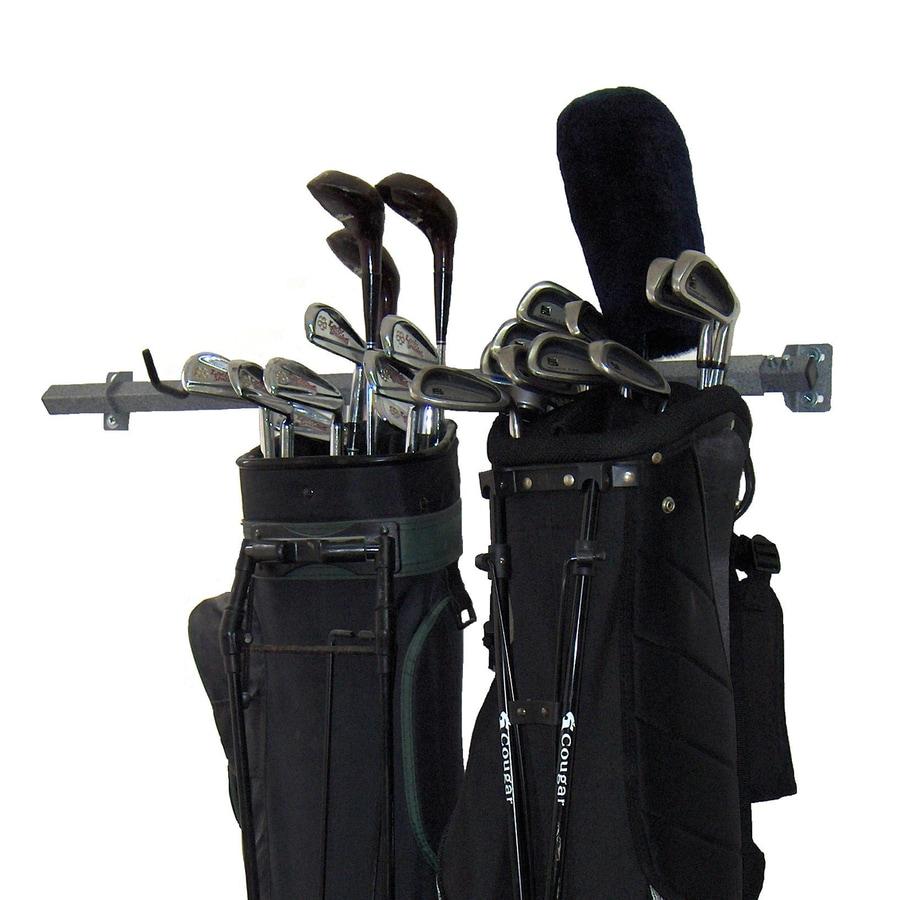 Monkey Bar 35-in L x 3-in H x 4-in D Silver Golf Bag Rack