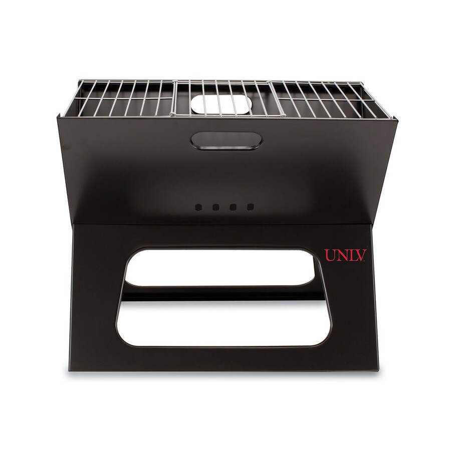 Picnic Time 203.5 Sq.-in University Of Nevada Las Vegas Rebels Portable Charcoal Grill