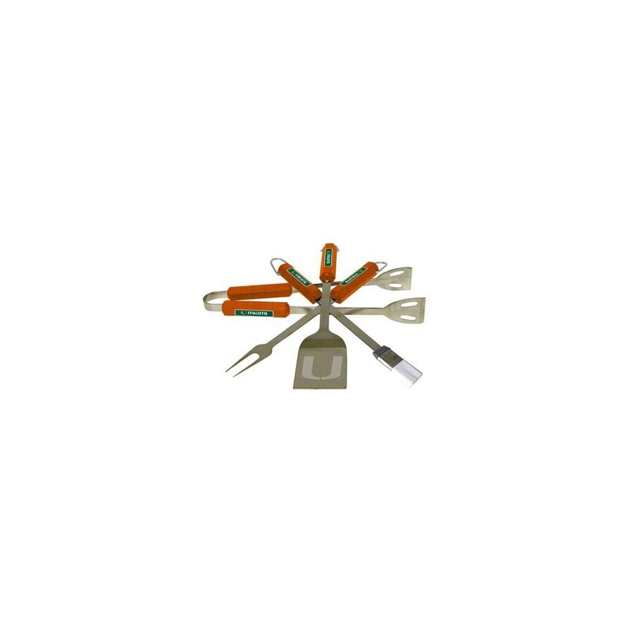 BSI Products 4-Piece University Of Miami Hurricanes Stainless Steel Tool Set