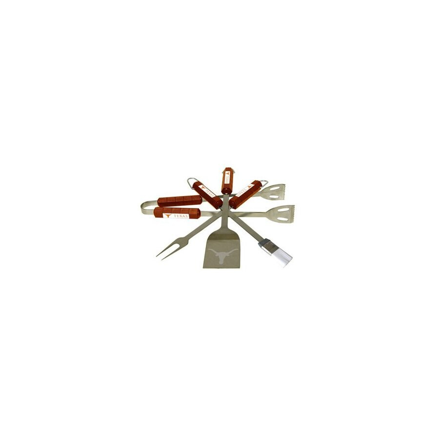 BSI Products 4-Piece University Of Texas Longhorns Stainless Steel Tool Set