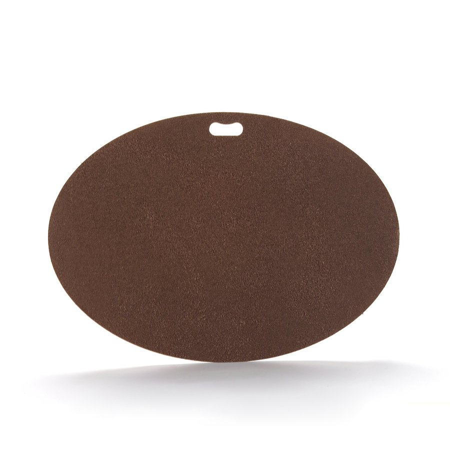 "The ""Original"" Grill Pad Fiber Cement Oval Earthtone Brown Grill Mat"