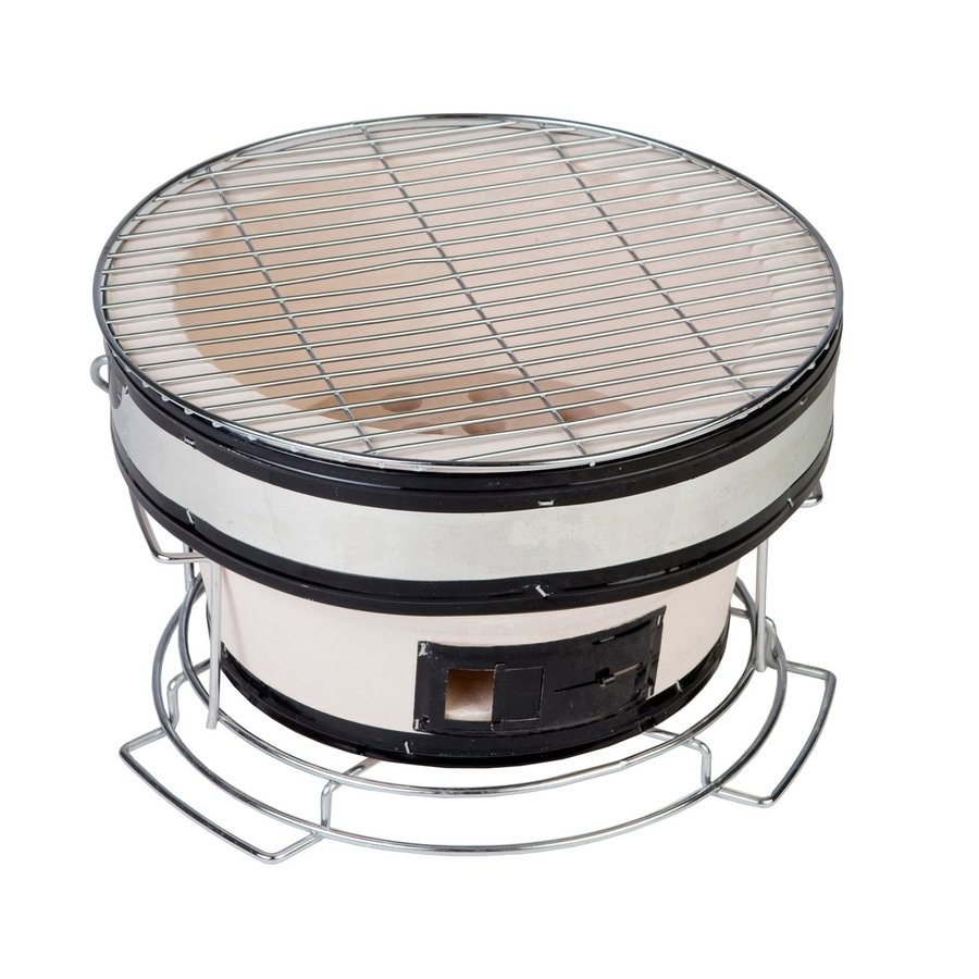 Fire Sense Yakatori 10.24-in White Charcoal Grill