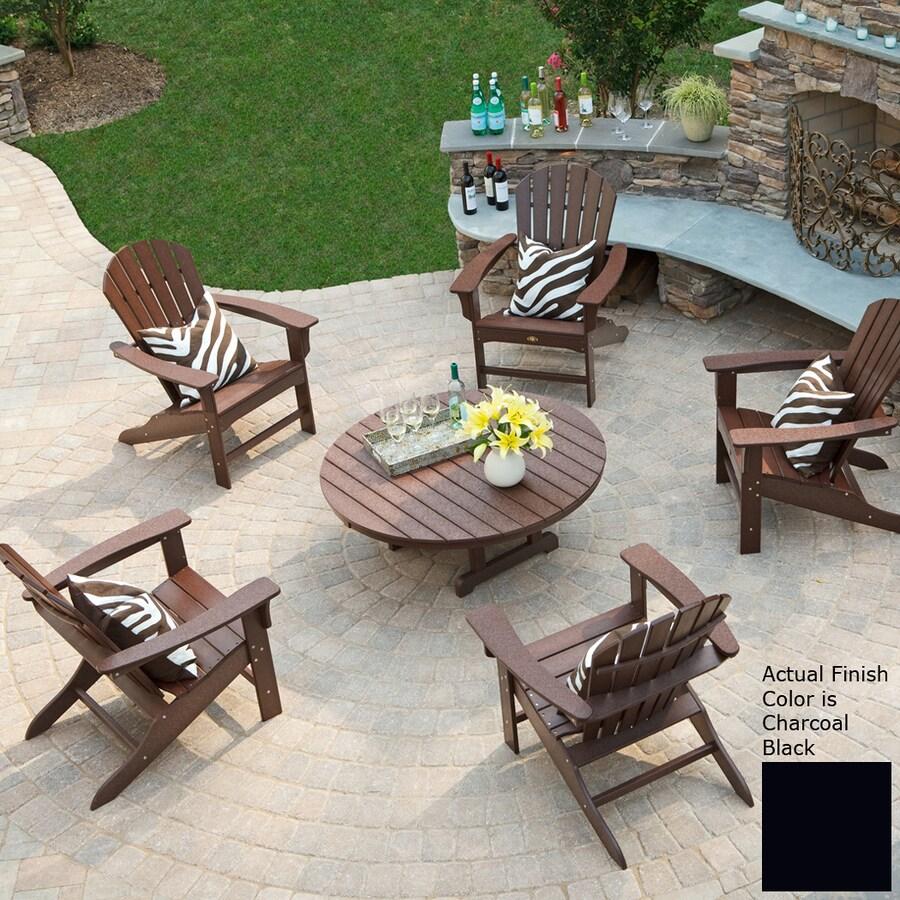 Trex Outdoor Furniture Cape Cod 6 Piece Plastic Patio Conversation Set