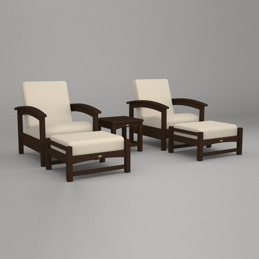 ... Furniture Rockport 5-Piece Plastic Patio Conversation Set at Lowes.com