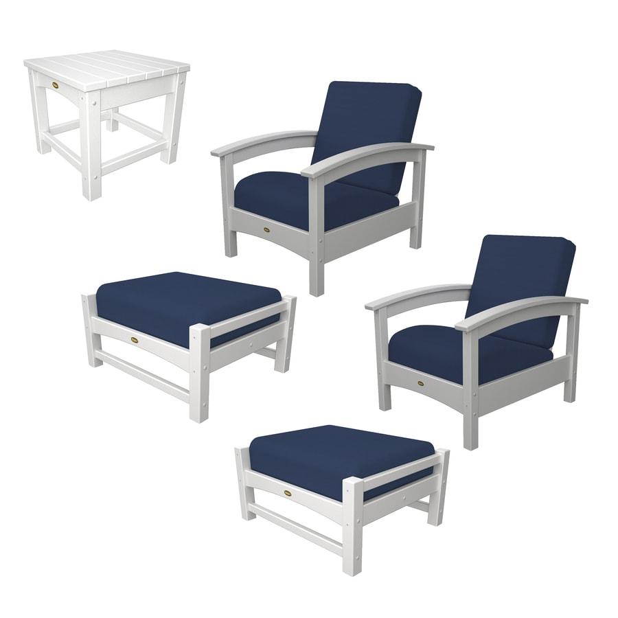 Trex Outdoor Furniture Rockport 5 Piece Plastic Patio Conversation Set
