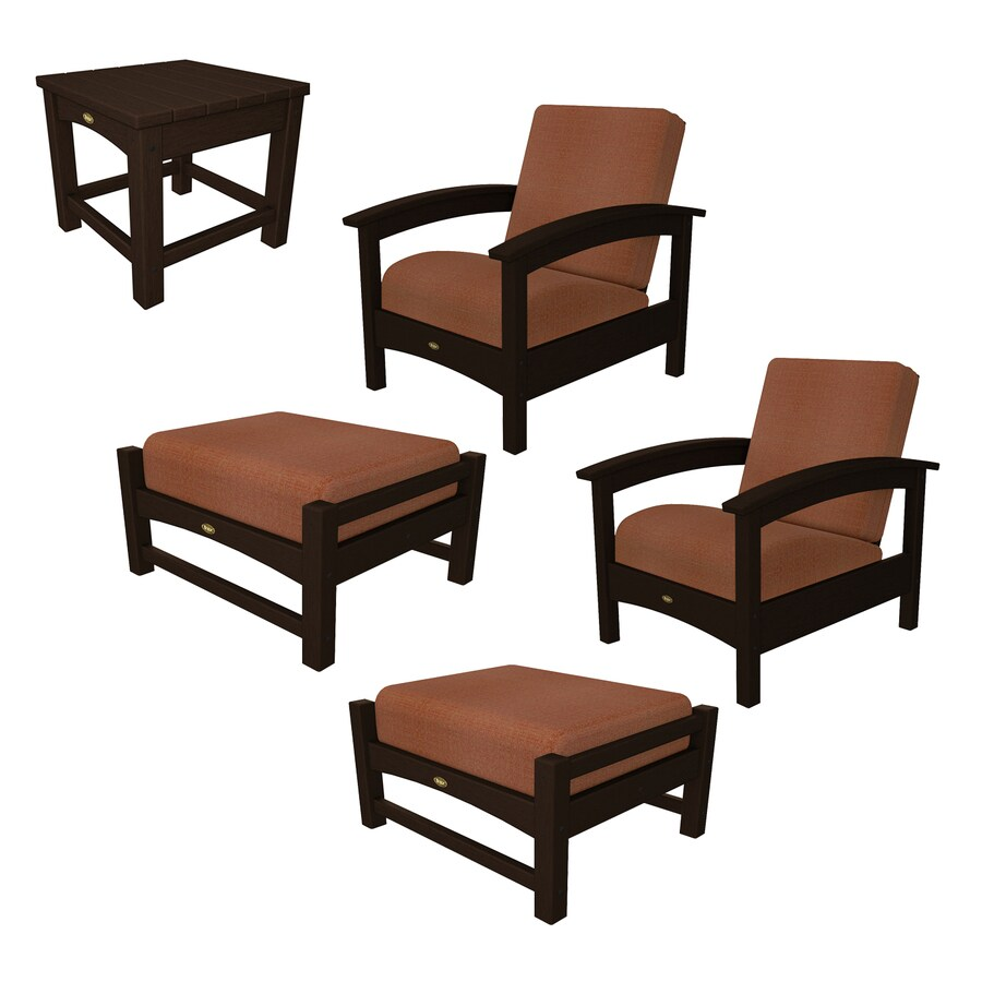 Shop trex outdoor furniture rockport 5 piece plastic patio conversation set at - Must have pieces for your patio furniture ...