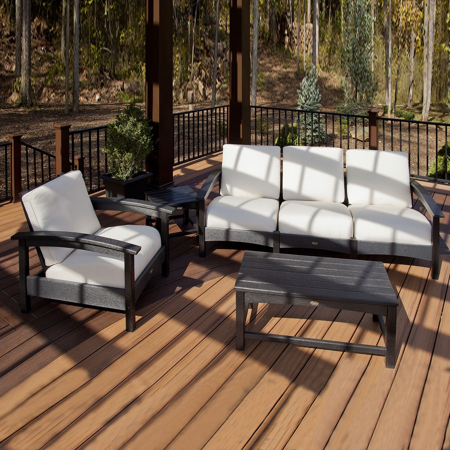 Trex Outdoor Furniture Rockport 3 Piece Plastic Patio Conversation Set