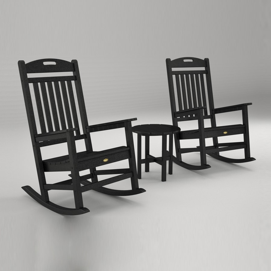 Outdoor Furniture Yacht Club 3 Piece Plastic Patio Conversation Set