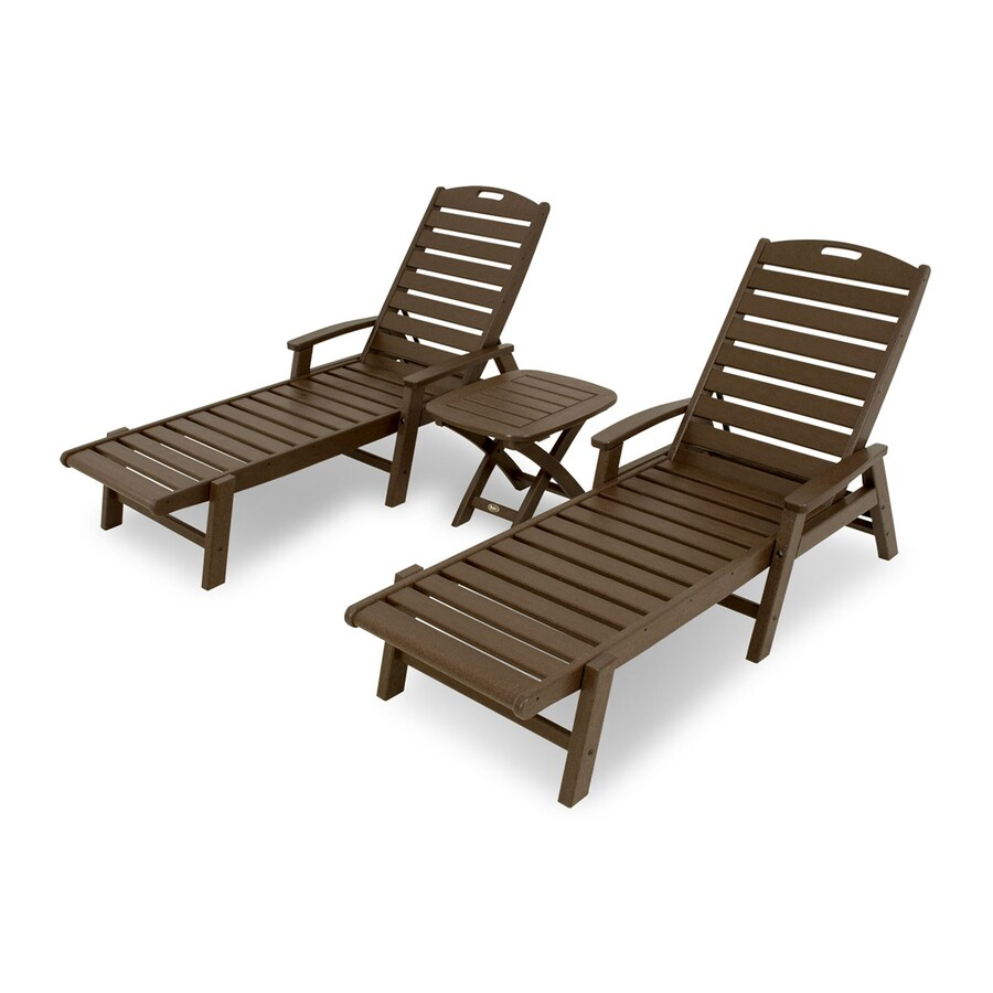 trex outdoor furniture yacht club 3 piece plastic patio conversation
