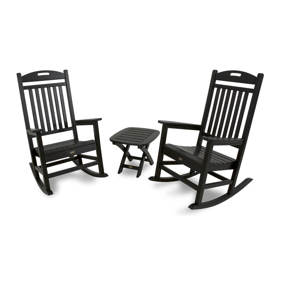 Trex Outdoor Furniture Yacht Club 3-Piece Plastic Patio Conversation Set