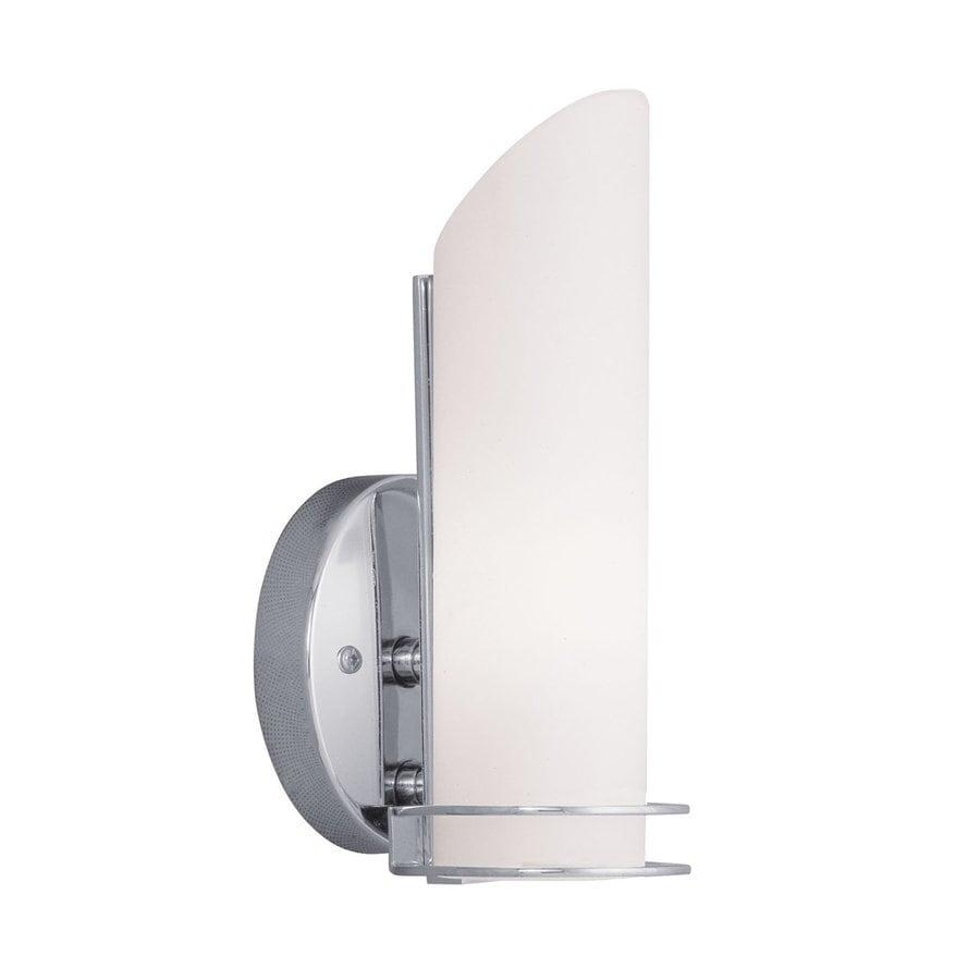 Livex Lighting Pelham 4.5-in W 1-Light Chrome Pocket Hardwired Wall Sconce