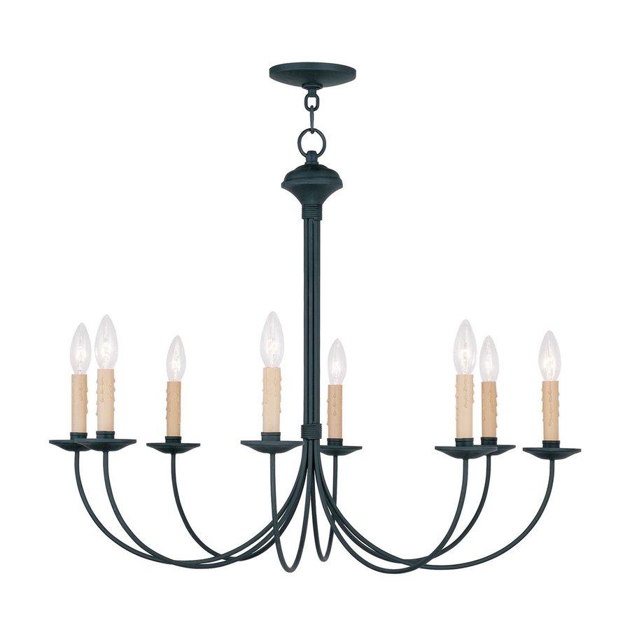 Shop Livex Lighting Heritage 30 In 8 Light Black Candle