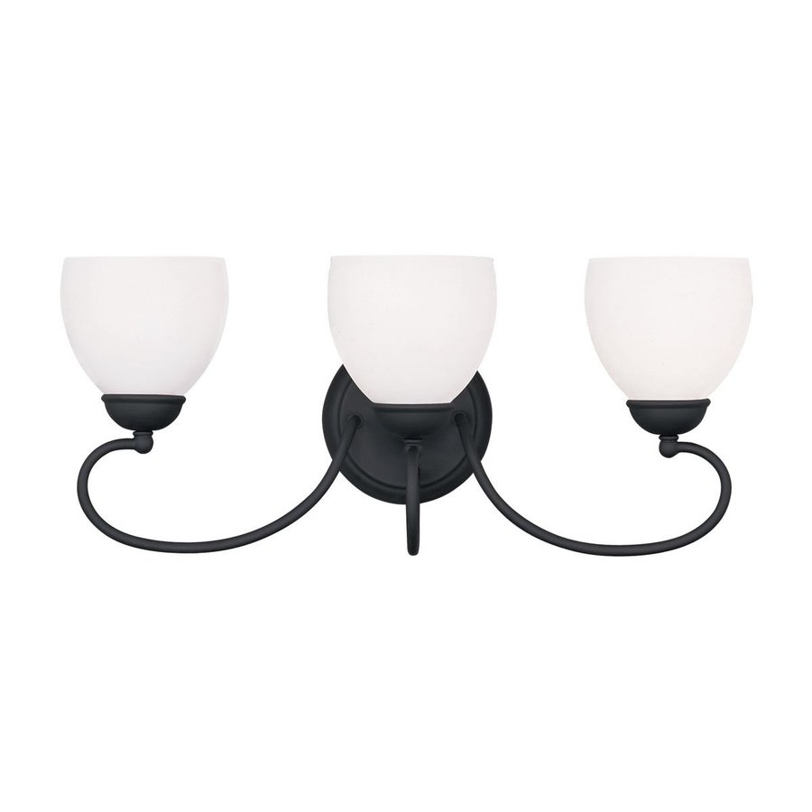 Livex Lighting 3-Light Brookside Black Bathroom Vanity Light