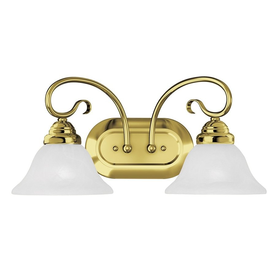 Shop Livex Lighting 2 Light Coronado Polished Brass Bathroom Vanity Light At