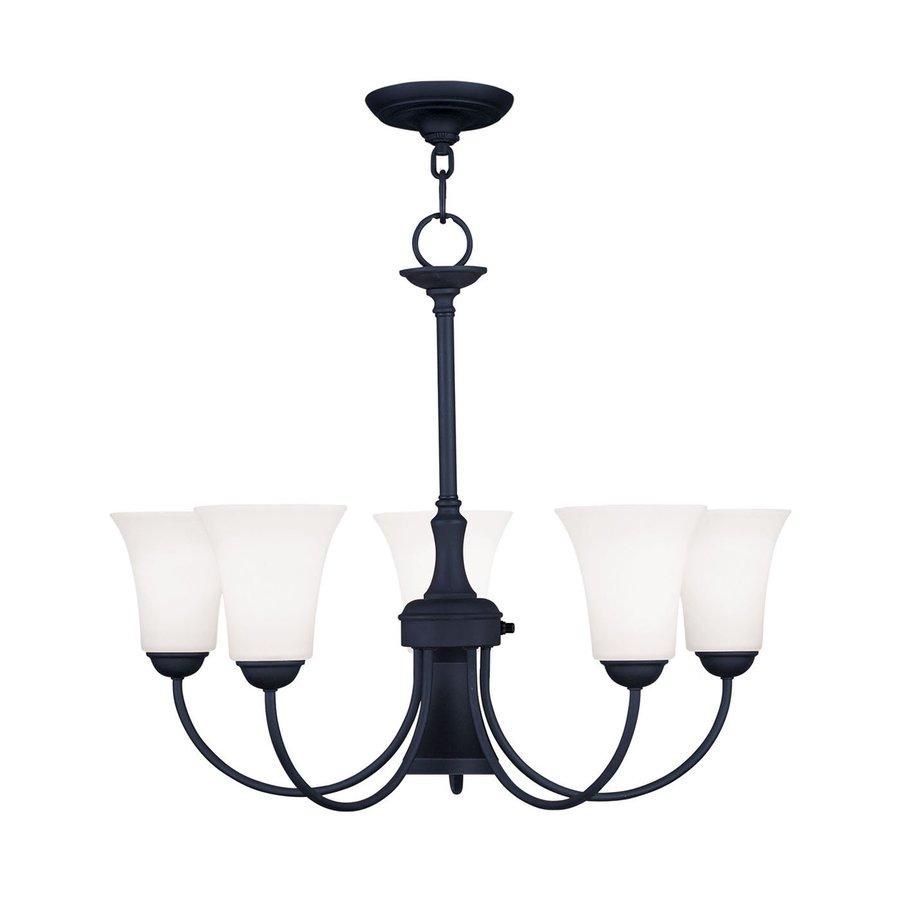 Livex Lighting Ridgedale 25.5-in 6-Light Black Shaded Chandelier