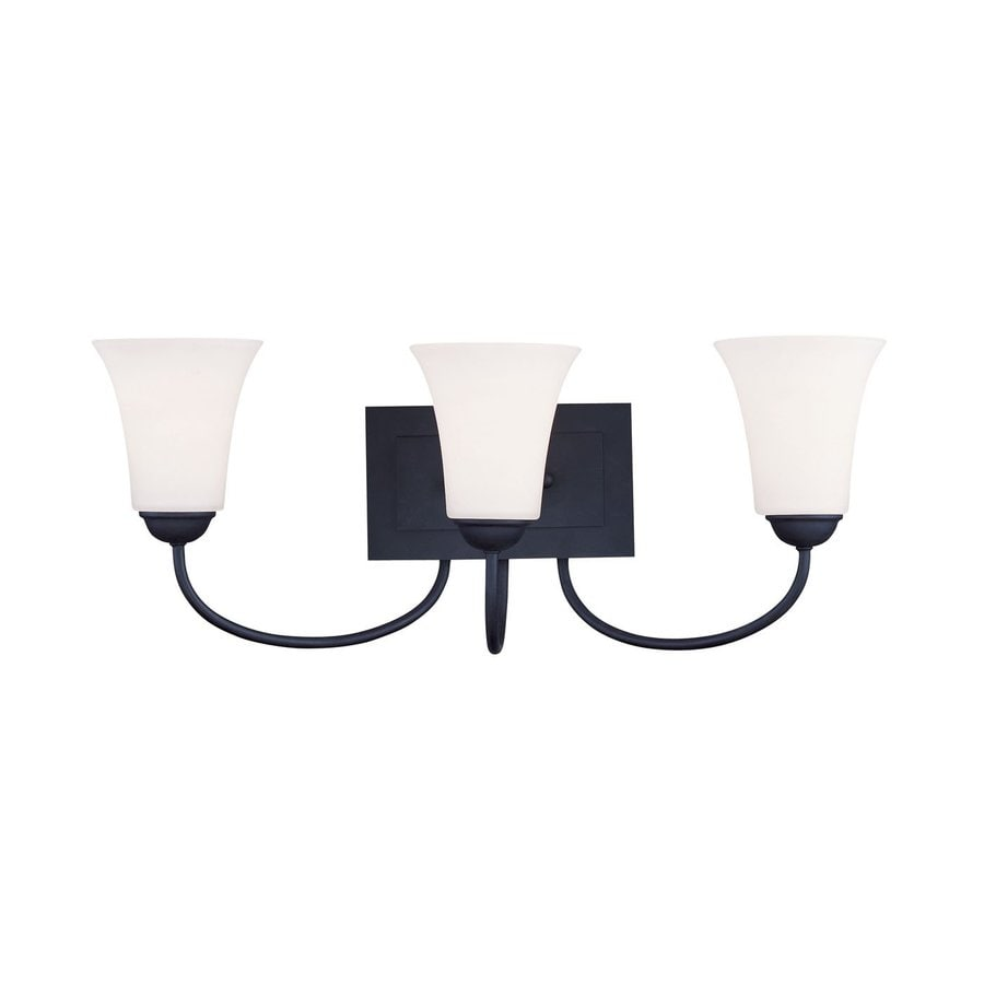 shop livex lighting 3 light ridgedale black bathroom vanity light at