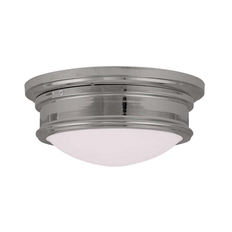 Livex Lighting Astor 13-in W Chrome Ceiling Flush Mount Light