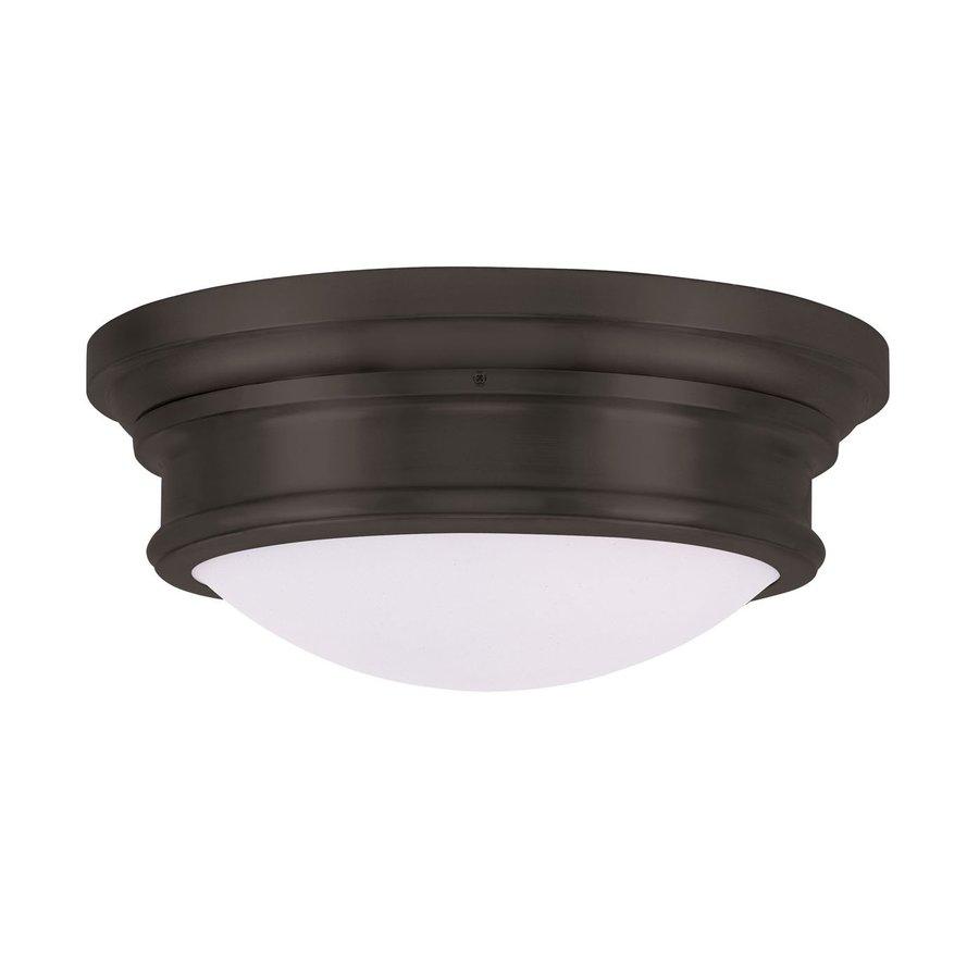 Livex Lighting Astor 15.5-in W Bronze Ceiling Flush Mount Light