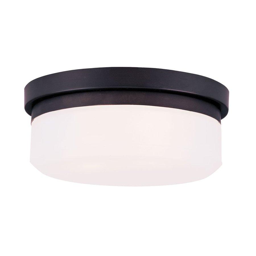 Livex Lighting Stratus 11-in W Bronze Ceiling Flush Mount Light