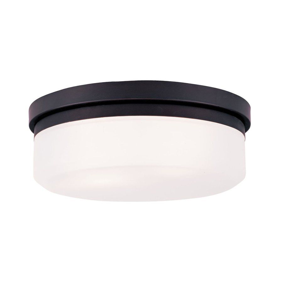 Livex Lighting Stratus 13-in W Bronze Ceiling Flush Mount Light