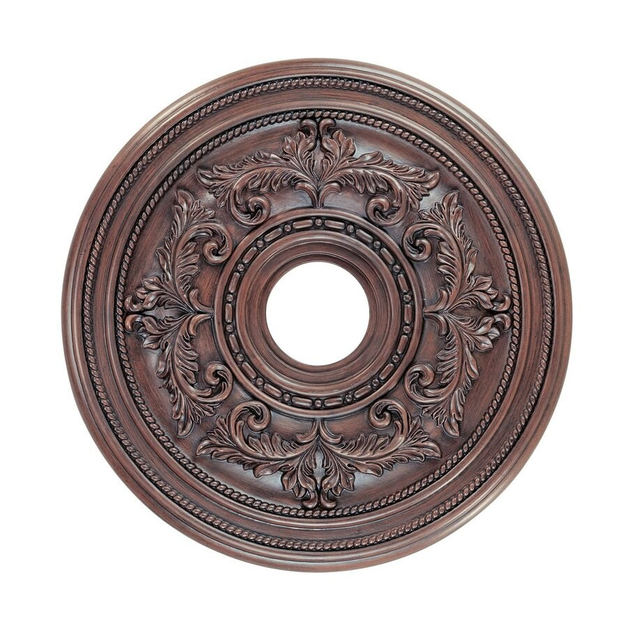 Ceiling Rosettes At Lowe S : Shop livex lighting imperial bronze ceiling medallion at